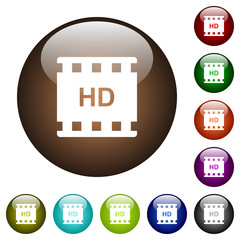 HD movie format color glass buttons