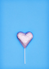 Pink heart chocolate shape, love