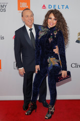 "Tommy Mottola and singer Thalia attend the 2018 Pre-GRAMMY Gala & GRAMMY Salute to Industry Icons presented by Clive Davis and The Recording Academy honoring Shawn ""JAY-Z"" Carter in Manhattan, New York"