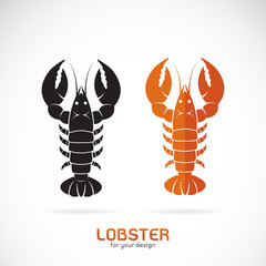 Vector of lobster design on white background. Sea Animal. Seafood. Easy editable layered vector illustration.