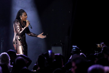 "Recording artist Jennifer Hudson performs during the 2018 Pre-GRAMMY Gala & GRAMMY Salute to Industry Icons presented by Clive Davis and The Recording Academy honoring Shawn ""JAY-Z"" Carter in Manhattan, New York"