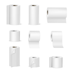 Paper Towels Toilet Rolls Realistic