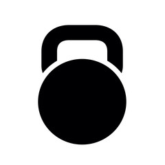 Black Kettlebell Icon, isolated on white background. Vector Illustration.