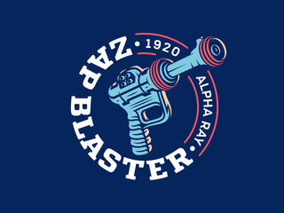 Zap blaster ray gun vector design