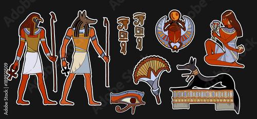 Ancient Egypt Fashion Patch Pharaoh Gods Of Egypt Anubis Ra