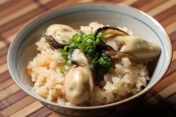 牡蠣飯 Oyster rice