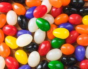 Colorful bright jelly bean background