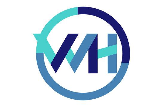 WH Global Circle Ribbon letter Logo