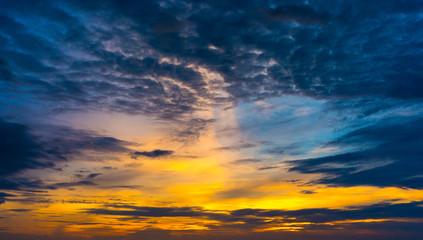 twilight colorful sky