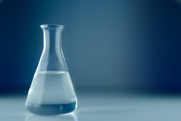 Laboratory flask isolated on a background