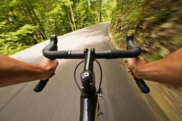 Zelfklevend Fotobehang Fietsen Cycling