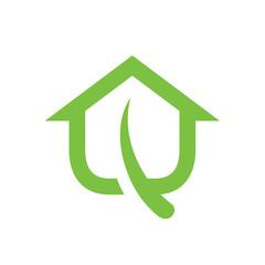 Green House Leaf Logo.