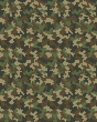 Seamless digital fashion camouflage pattern, vector background