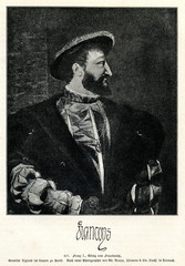 Portrait of Francis I of France by Titian (from Spamers Illustrierte  Weltgeschichte, 1894, 5[1], 491)