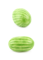 Single watermelon candy isolated