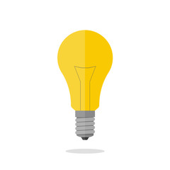 Light bulb on isolated white background. Symbol of the idea. Vector illustration