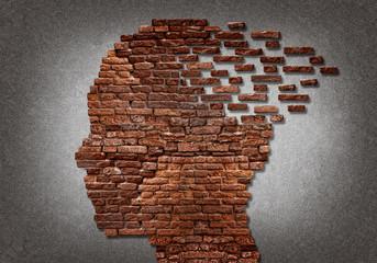 Bricks head falling apart