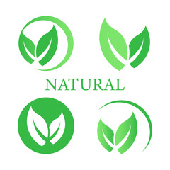 Set of label,logo with text natural product.natural  design.logo