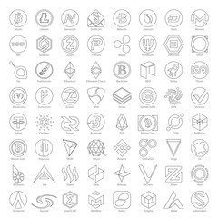 Line Icons - Cryptocurrency