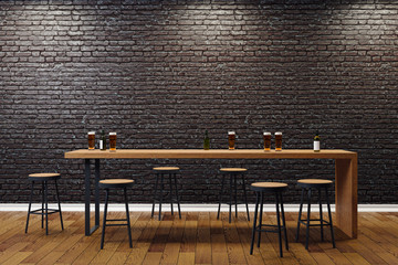 Creative black bar interior
