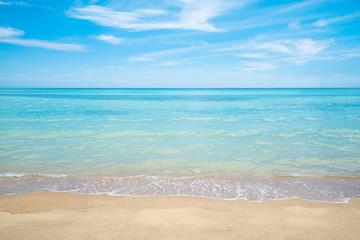 summer beach , sea and sky background
