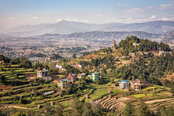 Nepal, Landscape near Bhaktapur, Kailashnath Mahadev Statue