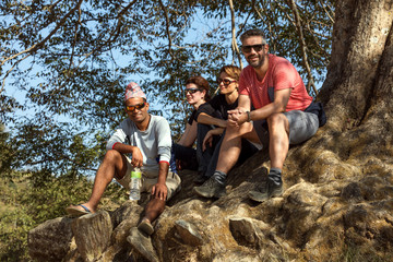 Trekkers Have a Break, Nepal