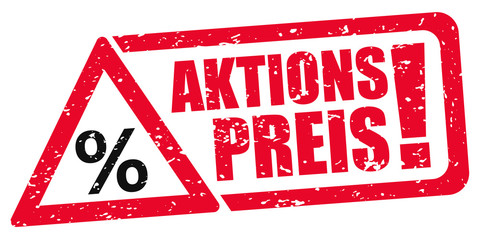 Aktionspreis / Stempel / Rabatt