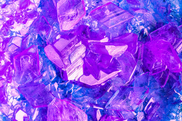 Purple Violet Crystals Pattern Abstract Background
