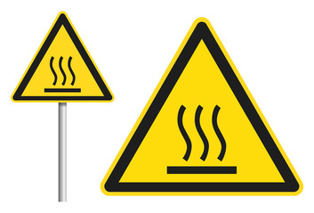 Heiße Oberfläche / Verbrennungsgefahr