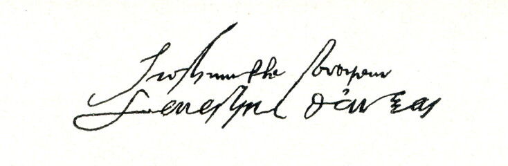 Autograph of cardinal Granvelle (from Spamers Illustrierte Weltgeschichte, 1894, 5[1], 550)