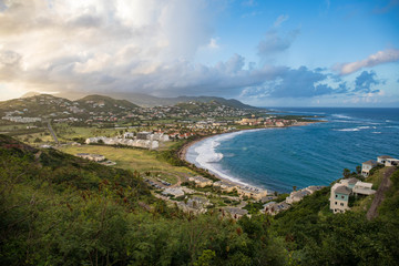Frigate Bay on Saint Kitts and Nevis in the Caribbean