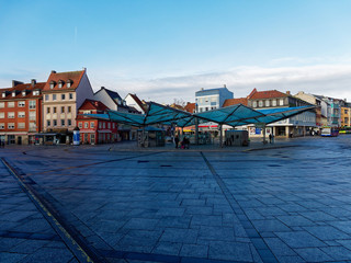Stadtansicht Schweinfurt, Unterfranken, Bayern, Deutschland