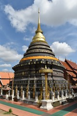 Phra That Lampang Luang pagoda in Lumphang province in northern of Thailand