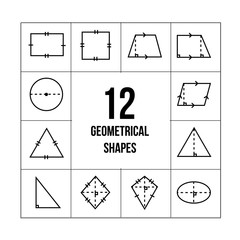 2D geometrical shape of math