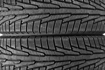 Car tires as background, closeup