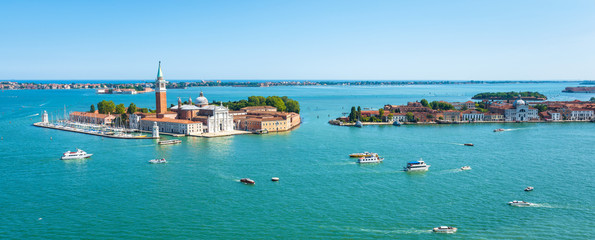 Panoramic view of Venice, Italy