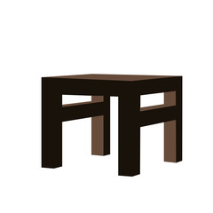 Perspective 3D looks of table furniture vector assets