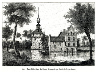 Palace of cardinal Granvelle at Saint Josse ten-Noode (from Spamers Illustrierte  Weltgeschichte, 1894, 5[1], 552)