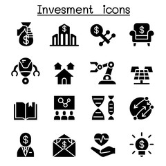 Business investment icon set