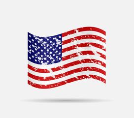 USA Flag Illustration