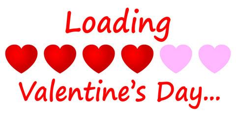 Beautiful concept of loading Valentines day - vector