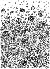 pattern doodle coloring