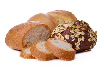 breads isolated on a white background.