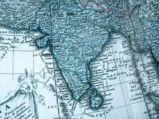 古い世界地図 インド