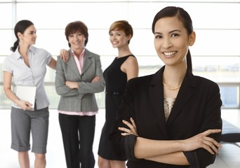 Team of diverse businesswomen
