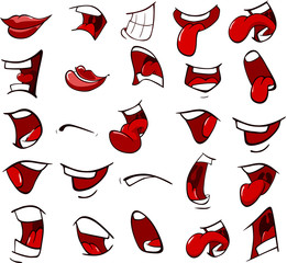 Photo Blinds Baby room A Set of Cartoon Illustrations. Mouths for you Design
