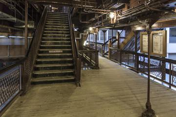 Stairway in Chicago loop elevated station