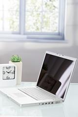 Laptop photo on table