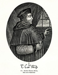 Thomas Wolsey, English churchman, statesman and cardinal (from Spamers Illustrierte Weltgeschichte, 1894, 5[1], 580)